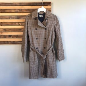 LN Emerson Made Houndstooth Plaid Trench